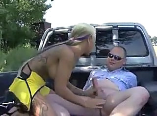 Car Handjob Outdoor Tattoo