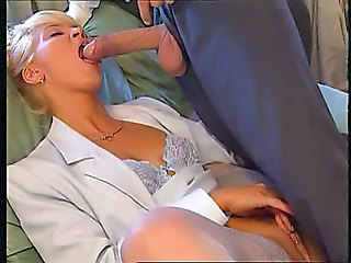 Big cock Blowjob Clothed Lingerie MILF Secretary