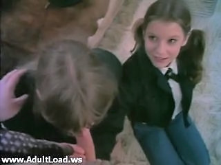 Blowjob Clothed Student Teen Threesome Uniform Vintage