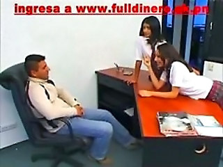 Office Student Teen Threesome Uniform