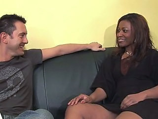 Amateur Ebony Interracial MILF