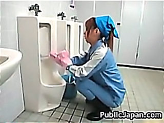 Asian Japanese Teen Toilet Uniform