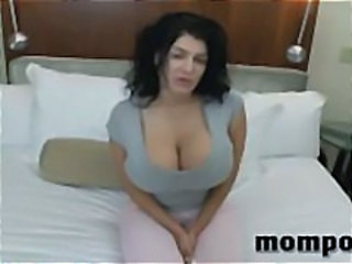 Amazing Big Tits Brunette MILF Mom