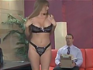 Big Tits Lingerie Office Secretary