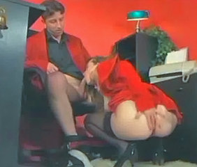 Ass Blowjob Clothed Office Secretary Stockings