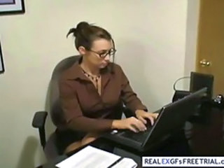 Blowjob Glasses MILF Office Secretary