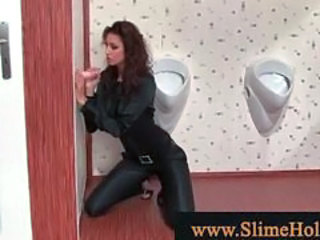 Bukkake Clothed Gloryhole MILF Toy