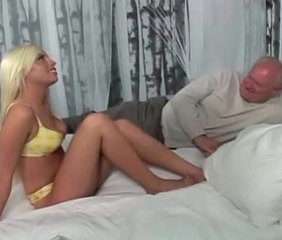 Blonde Daddy Daughter Lingerie Old and Young