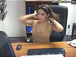Asian Cute Masturbating MILF Office Secretary