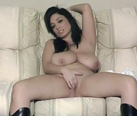Big Tits British European Masturbating MILF Natural SaggyTits Solo