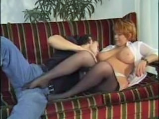 Big Tits Mature Mom Natural Old and Young Stockings