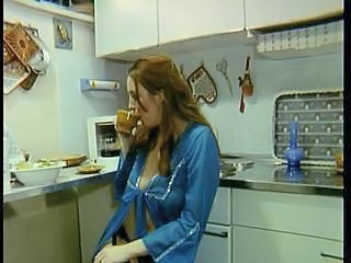 European German Kitchen MILF Redhead Vintage