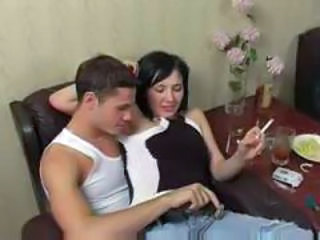 Amateur Drunk Girlfriend Russian Smoking