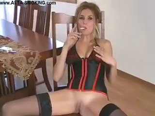 MILF Smoking Stockings