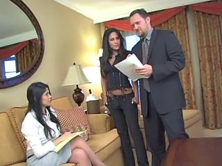 Business couple & their horny secretary