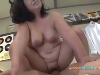 Asian Chubby MILF Riding