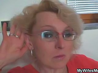 Glasses Mature Mom Old and Young Wife