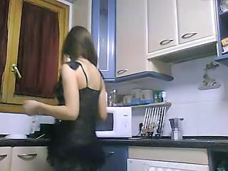 Amateur Homemade Kitchen Lingerie Teen Turkish