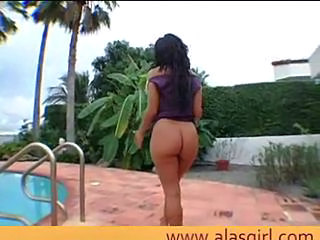 Ass Outdoor Pool Pornstar