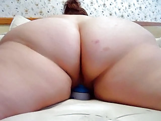 Amateur Ass BBW Close up Homemade Masturbating Toy