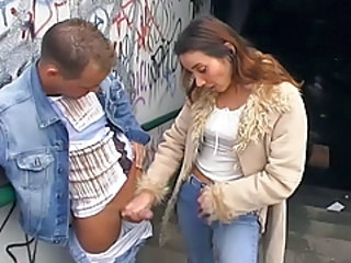 Handjob MILF Outdoor