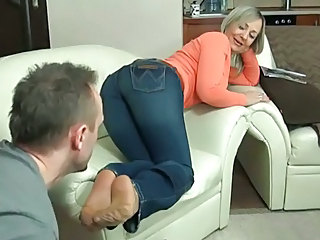 Feet Fetish Jeans Mature