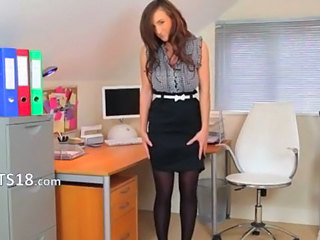 Office Secretary Skirt Stockings Teen