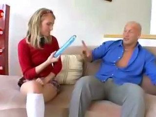 Blonde Dildo Teen Toy