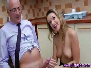 Babe Cute Daddy Kitchen Older Old and Young Teacher