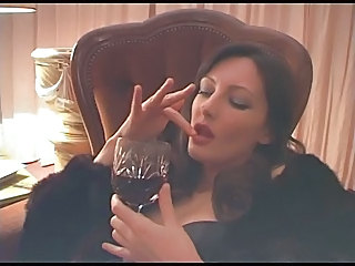 Drunk MILF Smoking