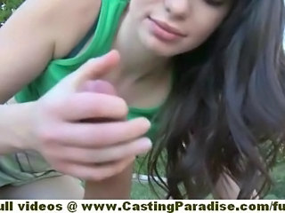 Handjob Outdoor Teen