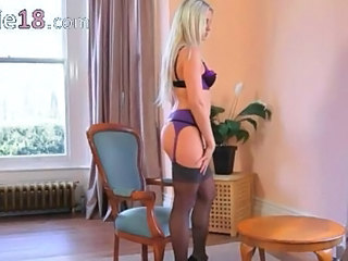 Amazing Ass Lingerie Stockings Teen