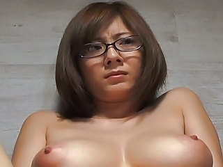 Asian Glasses Japanese MILF Natural Nipples Teacher
