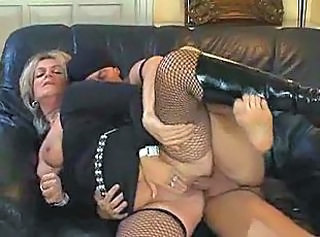 Blonde Clothed Fishnet Hardcore Mature Old and Young