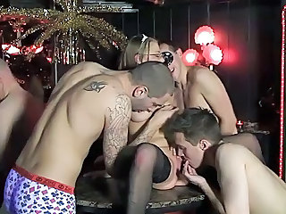 Gangbang Licking Party Stockings