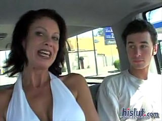 Car MILF Mom Old and Young