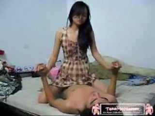 Amateur Asian Girlfriend Homemade Riding Skinny Teen