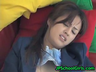Asian Japanese Masturbating Student Uniform