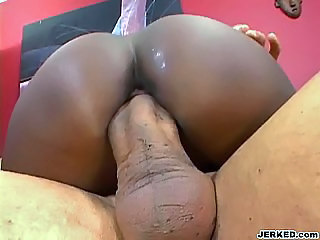 Ass Big cock Close up Ebony Hardcore Riding