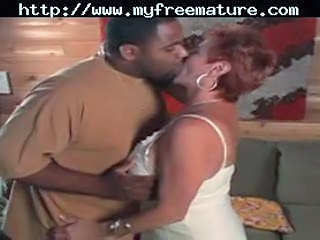 Interracial Kissing Mature Mom Redhead