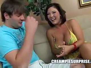 Asian Big Tits Creampie Interracial MILF