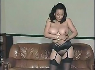 Amazing Big Tits Lingerie MILF Mom Natural Solo Stockings