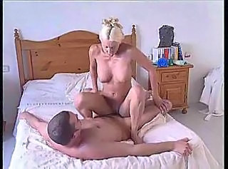 Blonde British European MILF Riding