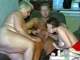 Amateur BBW Blowjob Mature Mom Old and Young Threesome