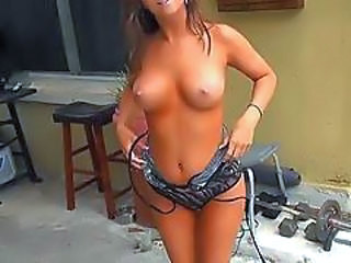 Amateur Amazing Outdoor Stripper Teen