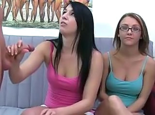 Glasses Handjob Teen Threesome Young