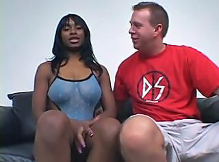 Amateur Ebony Interracial MILF SaggyTits