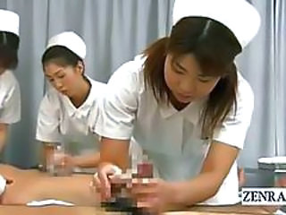 Asian CFNM Handjob Japanese Nurse Teen Uniform