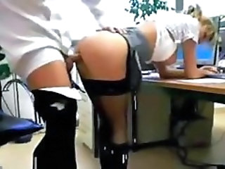 Amateur Ass Blonde Clothed Doggystyle Hardcore Office Secretary