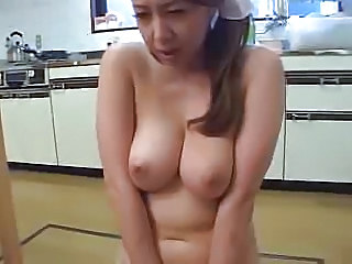 Asian Japanese Kitchen MILF Natural